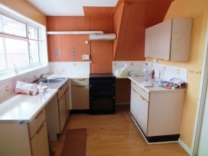 a) Kitchen Before